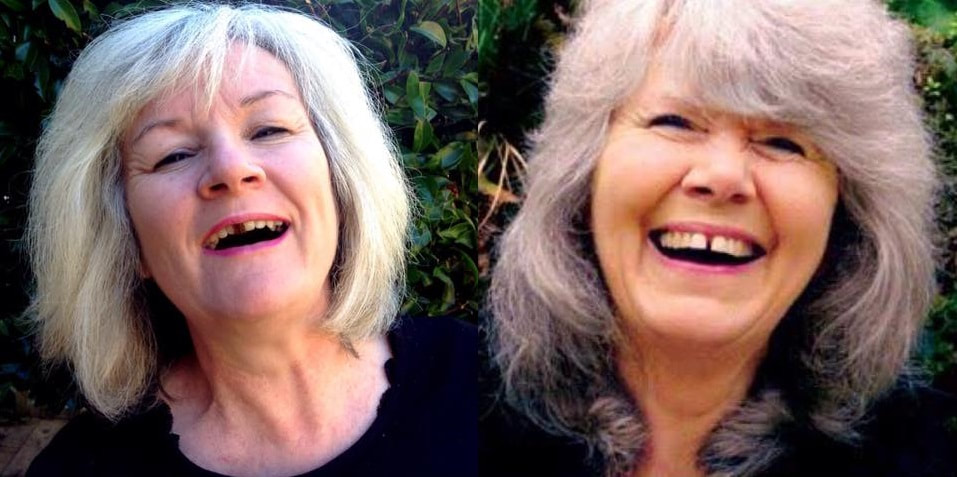 Jilly Cooper and  Fiona Stocker, author shot.